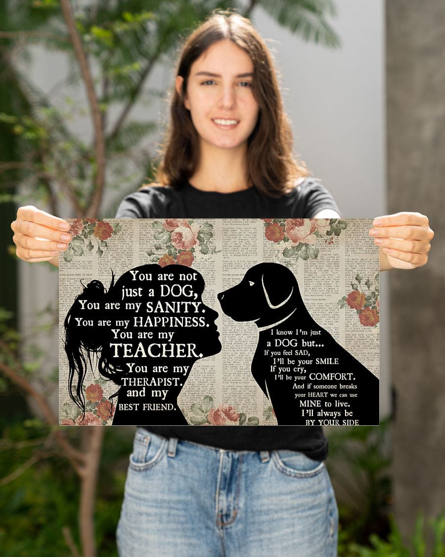 Girl and dog therapist poster
