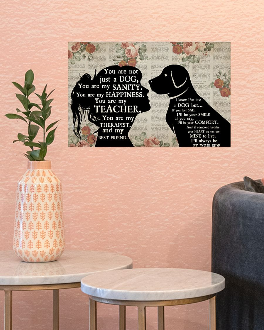 Personalized custom name girl and dog therapist poster 2'