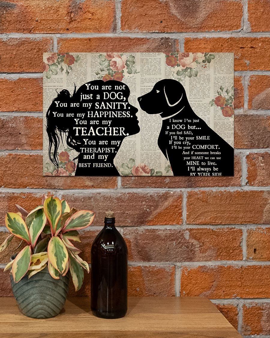 Personalized custom name girl and dog therapist poster 3