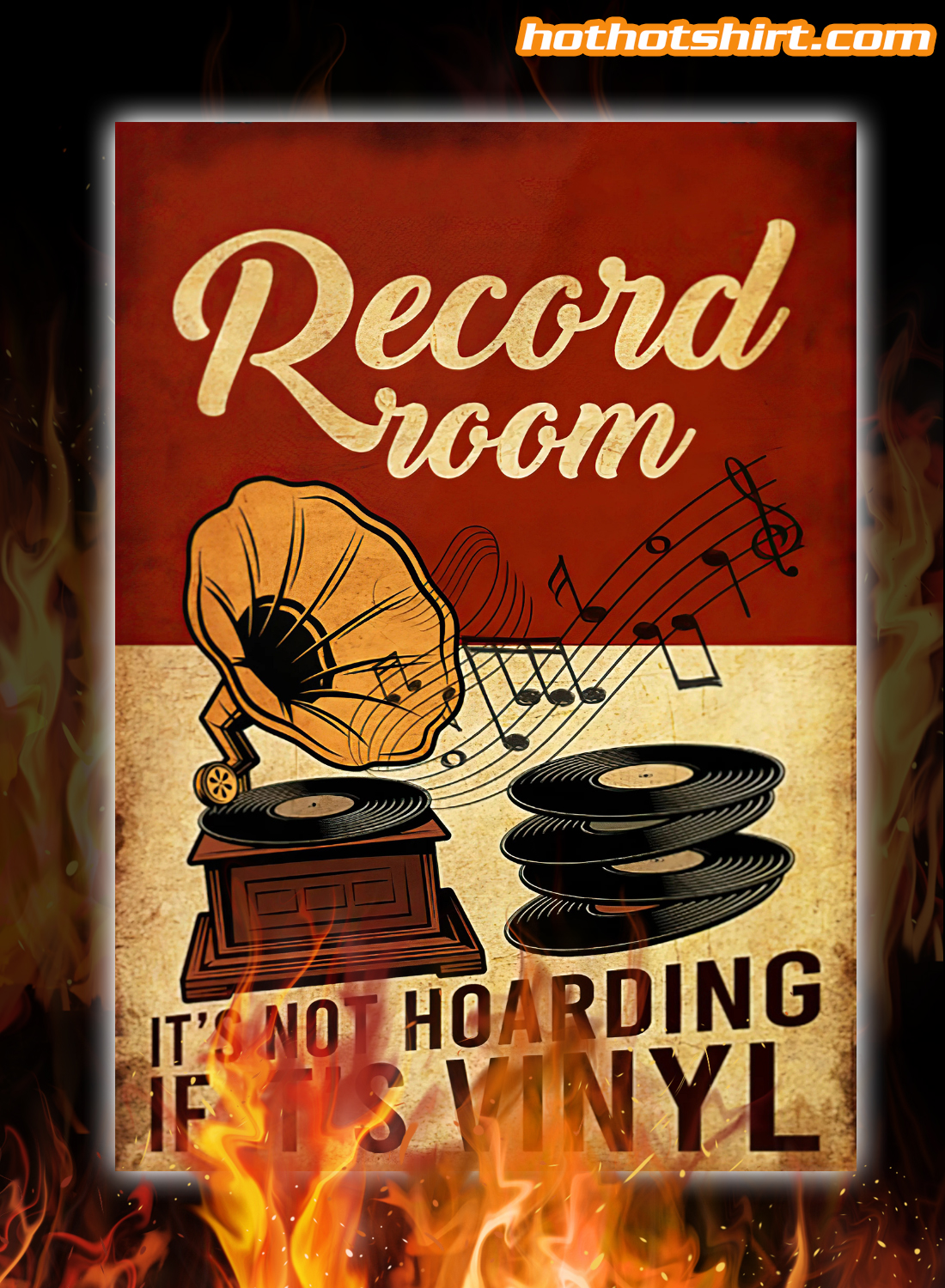 Pesonalized Record Room It's Not Hoarding If It's Vinyl poster