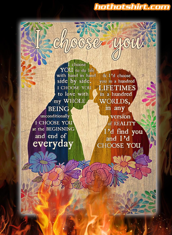Pesonalized customize LGBT Couple I choose you i choose you to do life poster