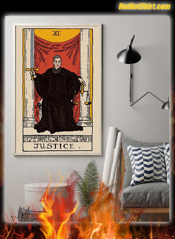 RBG Ruth Bader Ginsburg Justice XI Tarot Card Poster 1