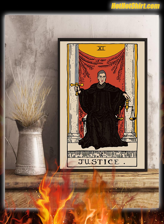 RBG Ruth Bader Ginsburg Justice XI Tarot Card Poster 3