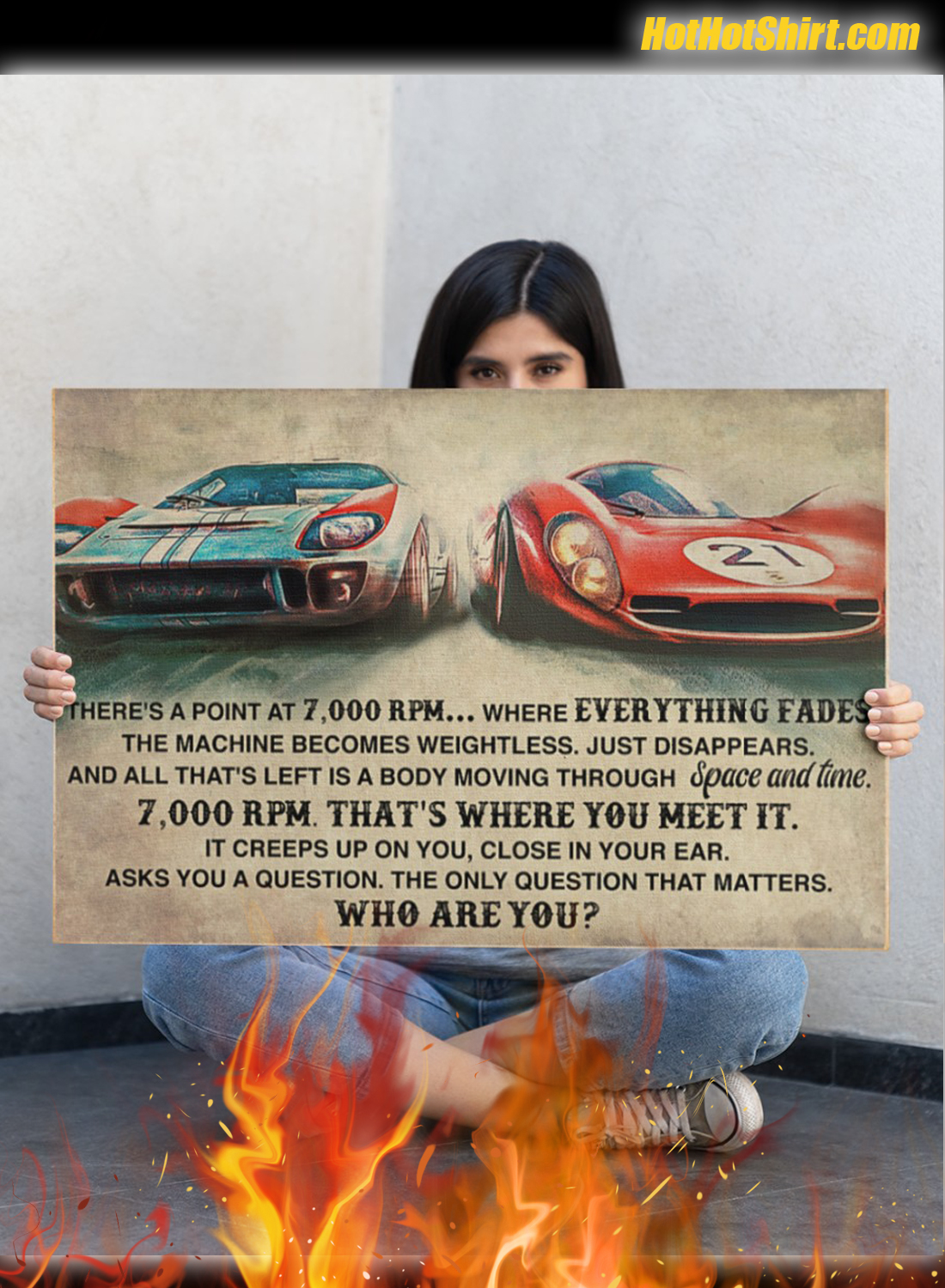 Sport Car Racing There Is A Point At 7000 RPM Poster 3