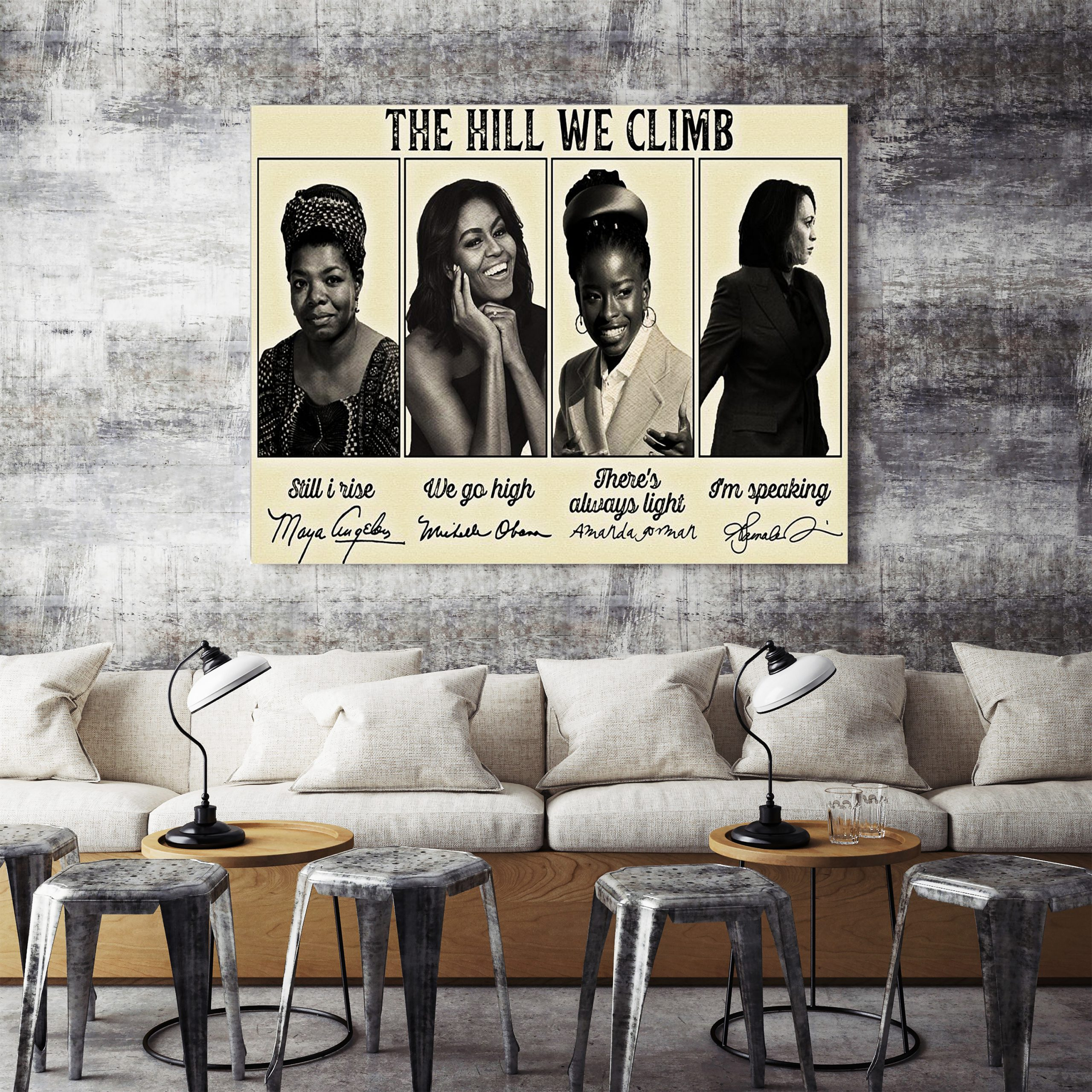 Amanda Gorman The Hill We Climb Signature Poster
