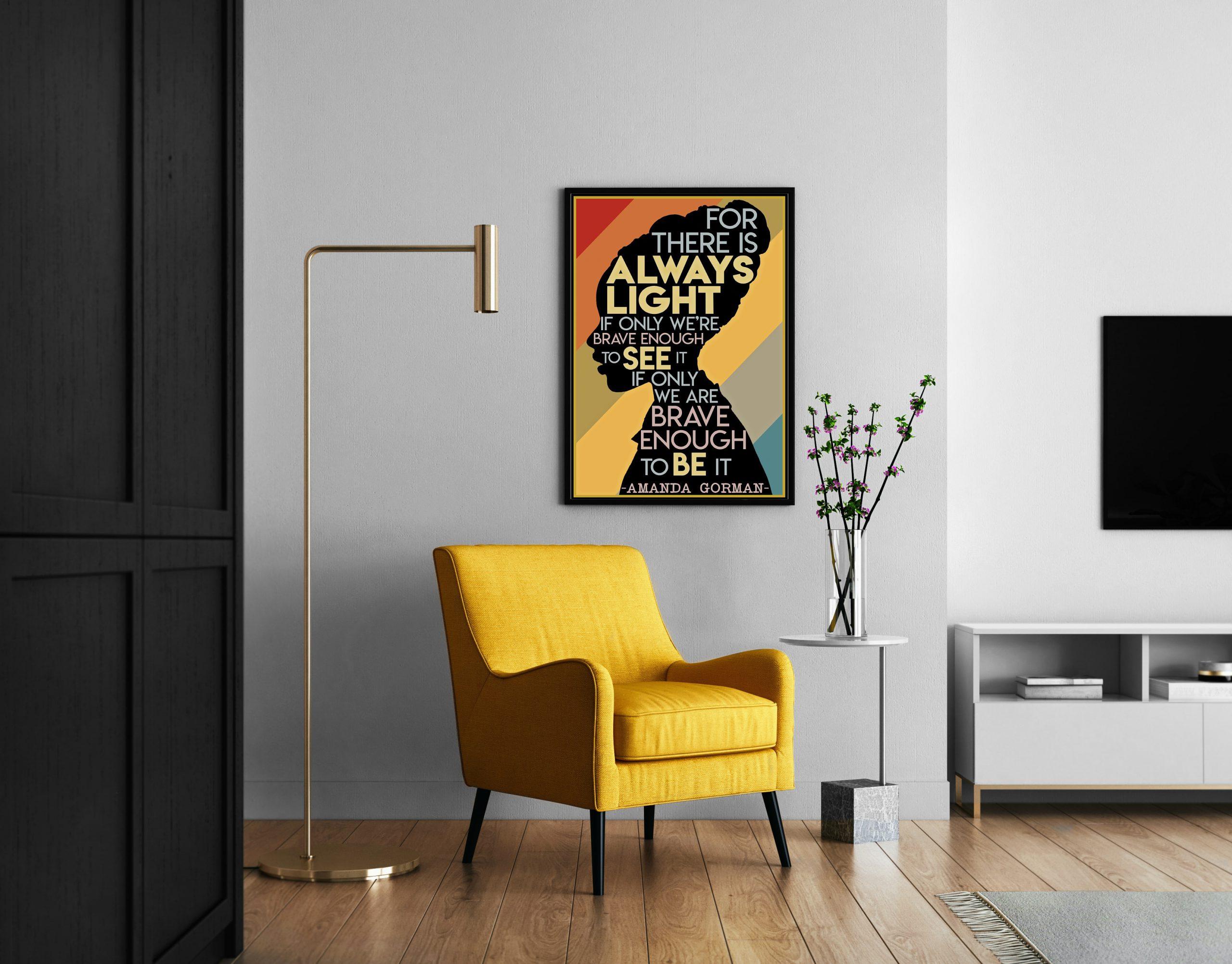 Amanda Gorman The Hill We Climb canvas print