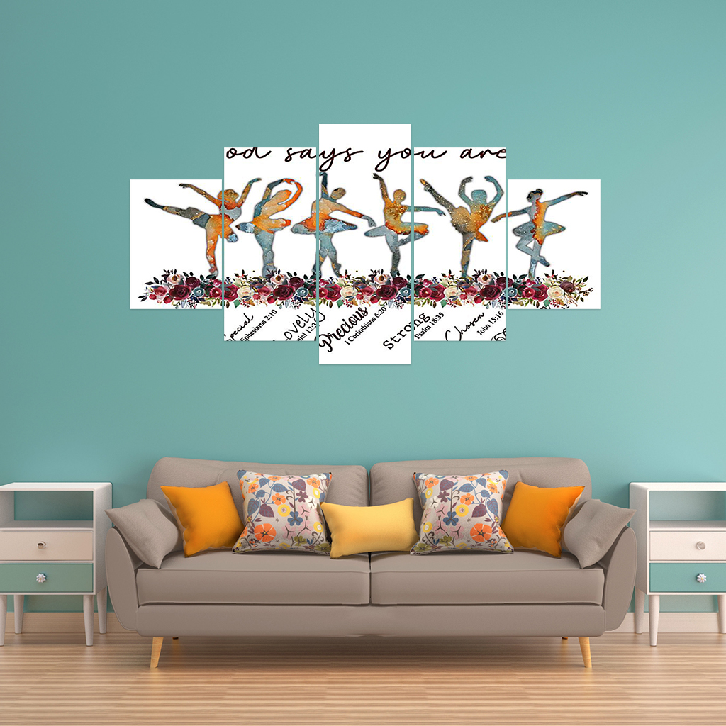 Ballet Dress God says You are poster and canvas