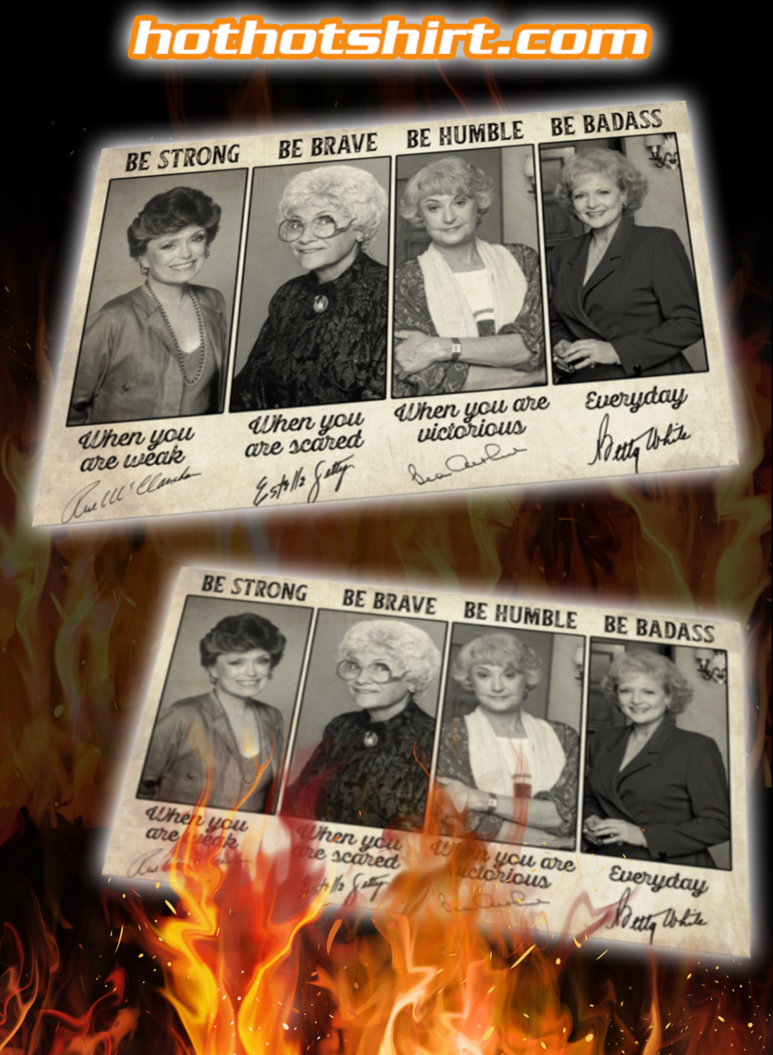 Be Strong Golden Girls Signatures Poster