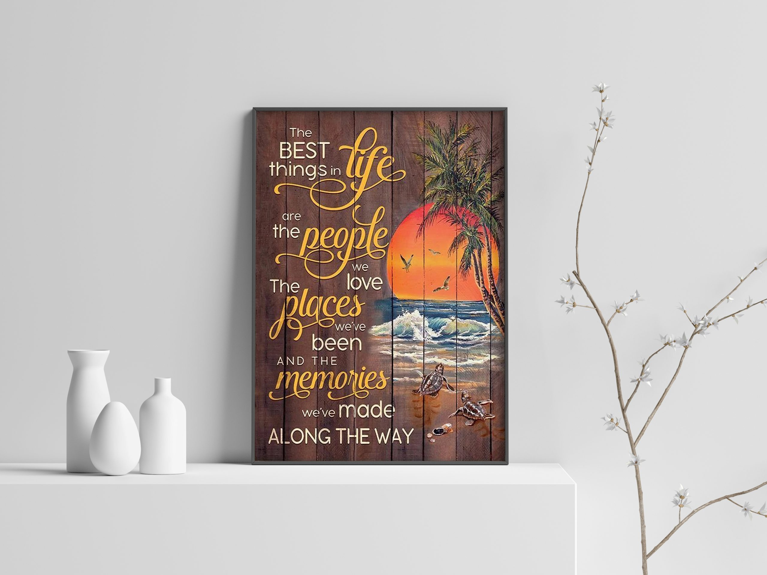 Beach The best things in life are the people we love canvas print