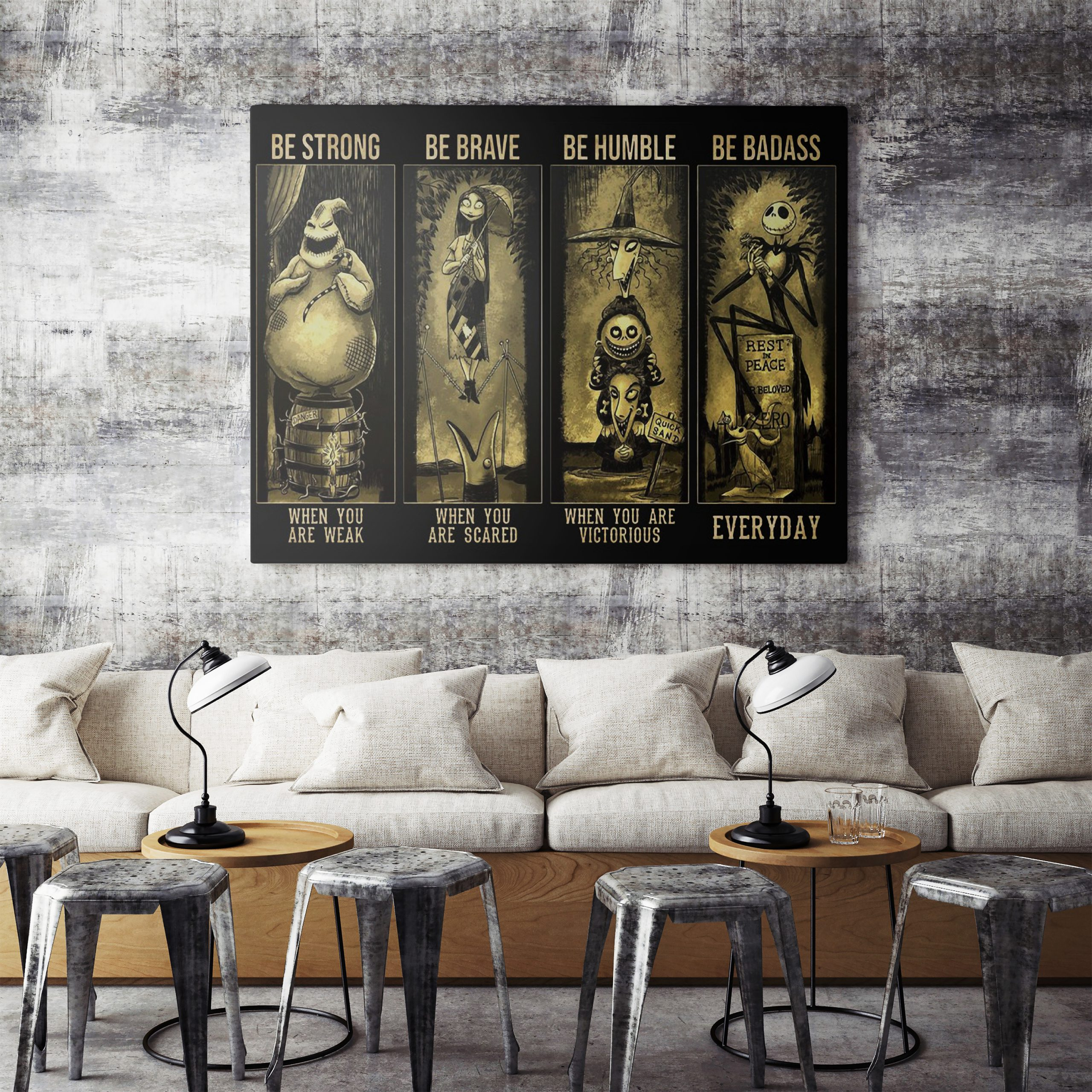 Disney Parks Haunted Mansion Stretch Room Nightmare Before Christmas Poster
