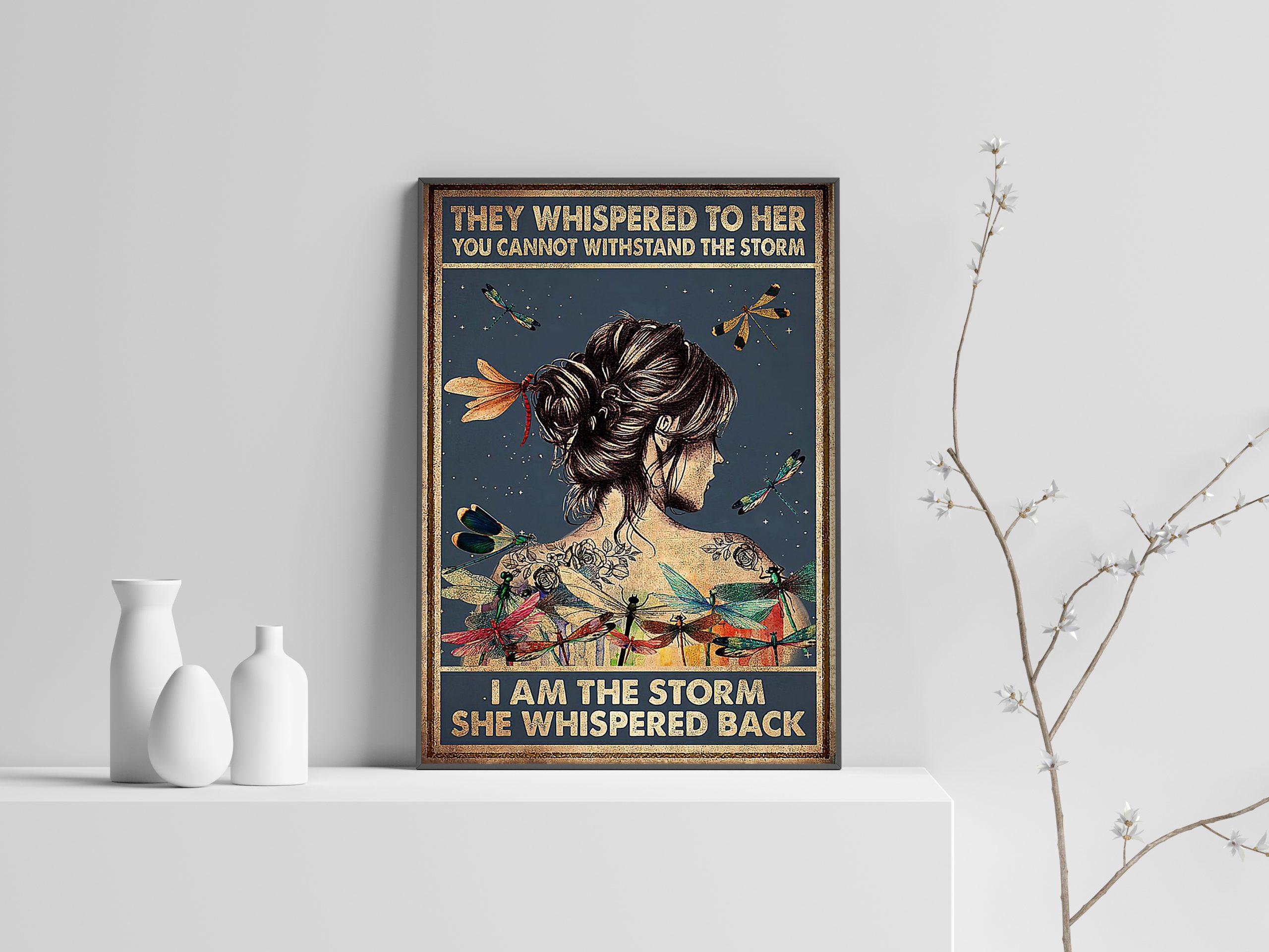 Dragonfly girl i am the storm she whispered back poster