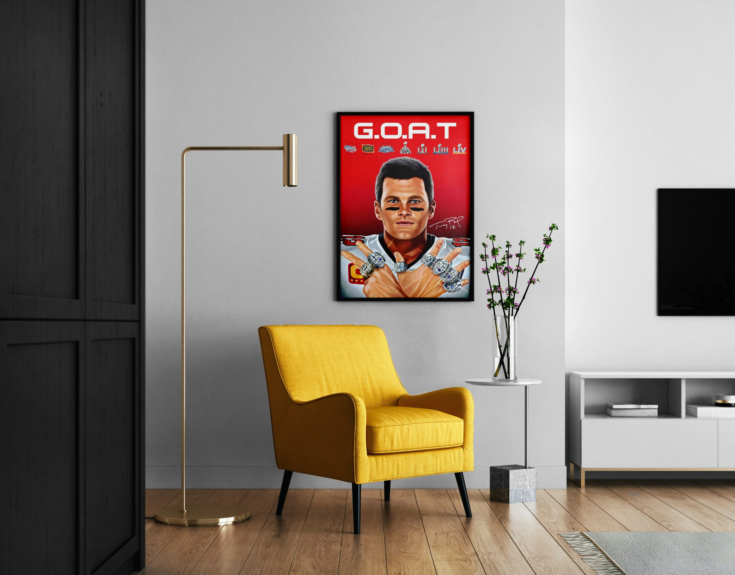 GOAT Tom Brady 2021 Greatest of all time poster