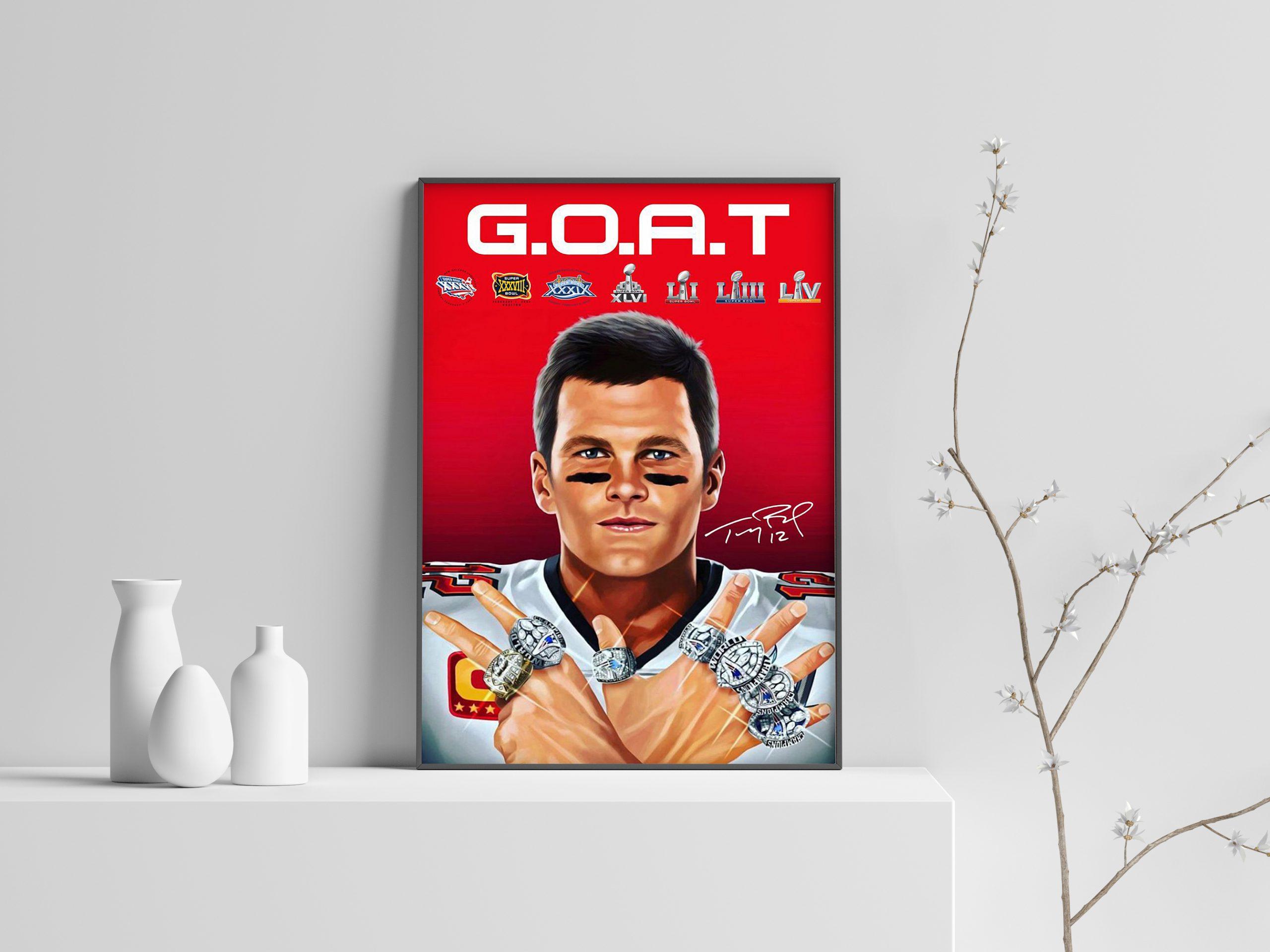 Tom Brady 2021 goat signatures poster