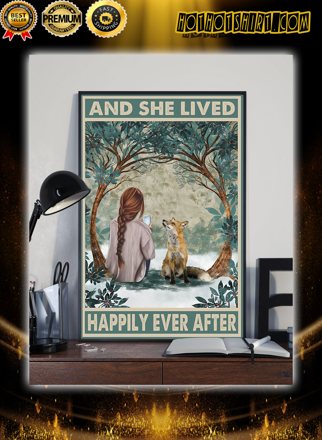 Girl and fox and she lived happily ever after poster 2