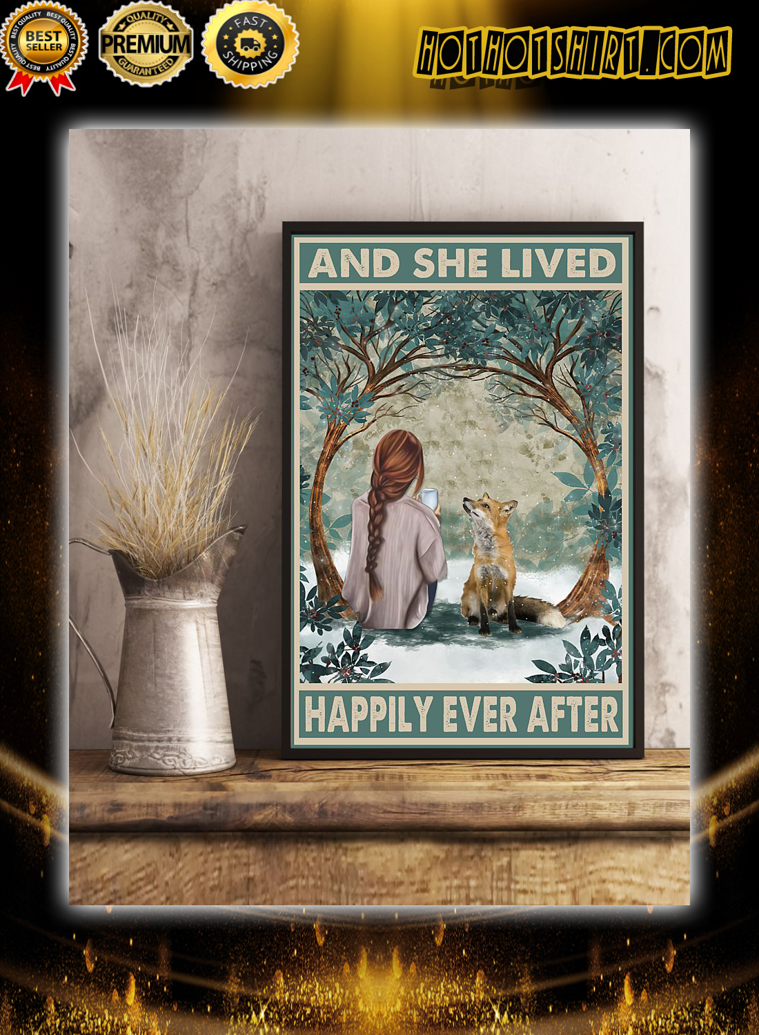 Girl and fox and she lived happily ever after poster 3