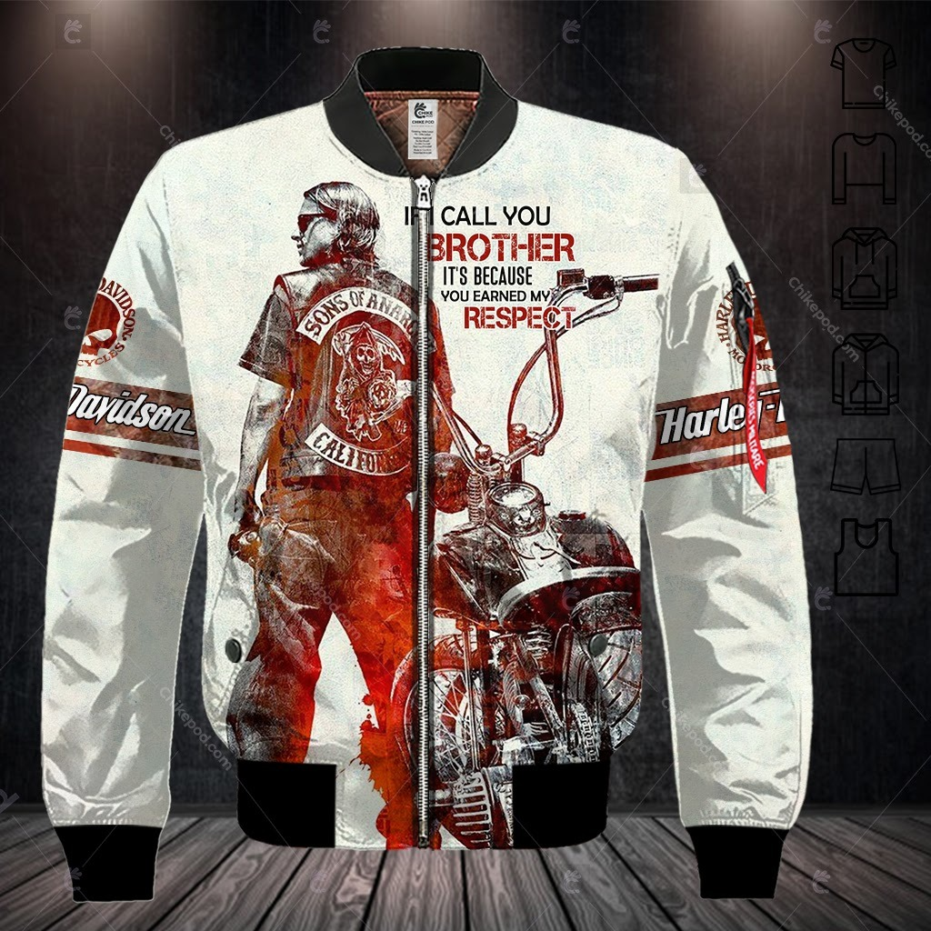 Harley Davidson If I Call You Brother It's Because You Earned My Respect 3D Hoodie