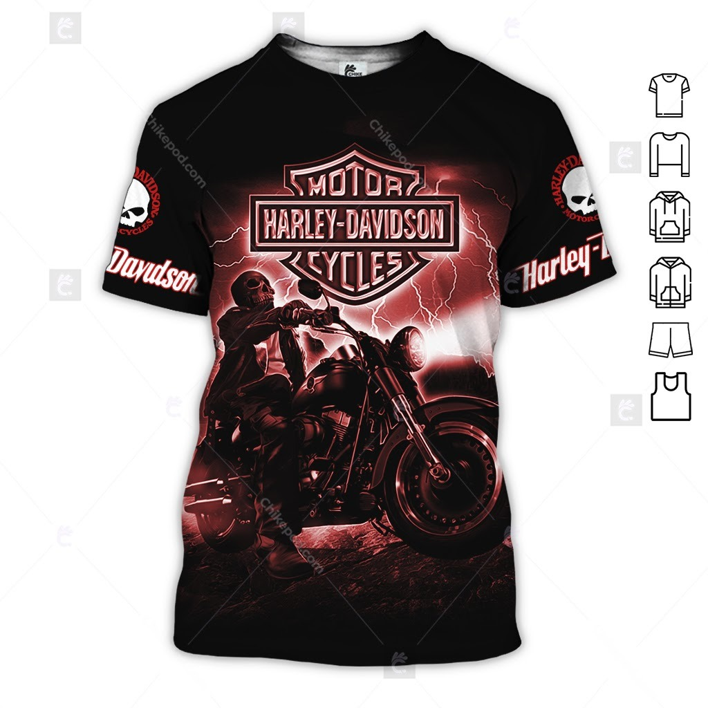 Harley Davidson Motorcycle Ride On The Storm 3D Hoodie