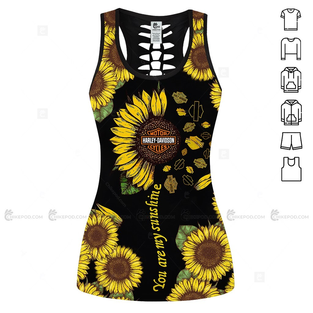 Harley Davidson Sunflower You Are My Sunshine 3D Hoodie