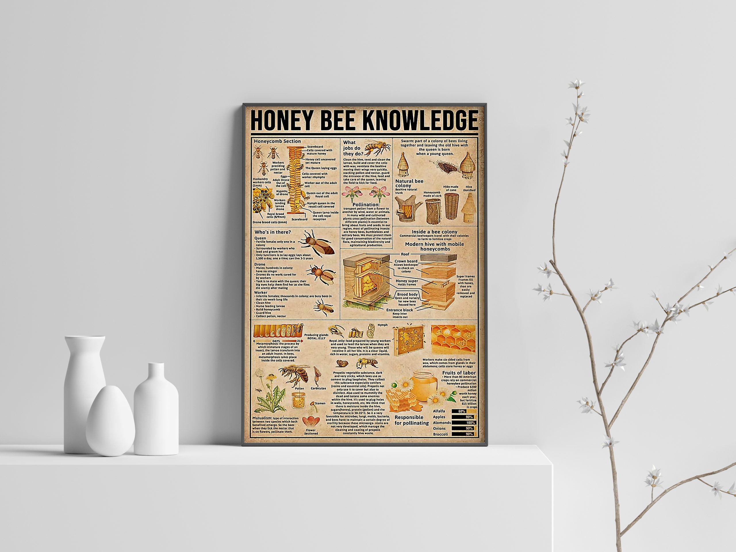 Honey Bee Knowledge Poster