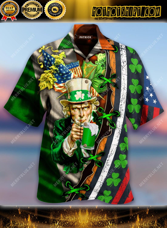 I Want You To Drink Beer Saint Patrick's Day Short Sleeve Tee, Hawaiian Shirt 2