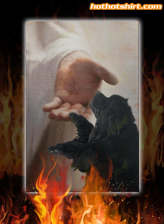 Jesus Newfoundland Dog Take My Hand Canvas Prints And Poster