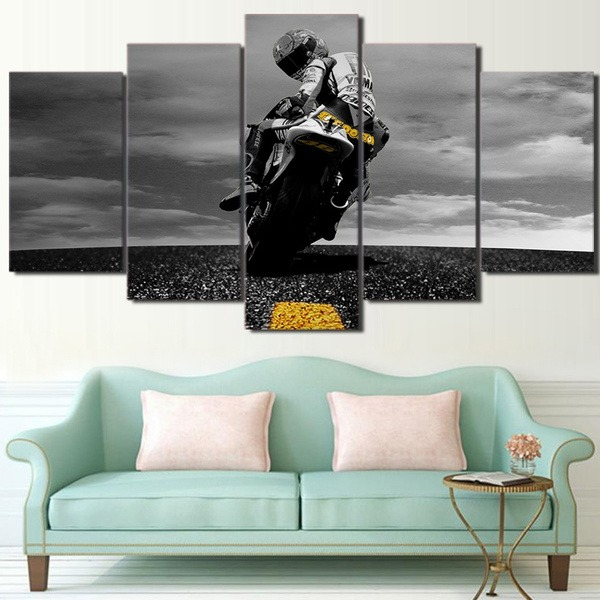 Motorbike some time i look back on my life 5 pieces canvas print