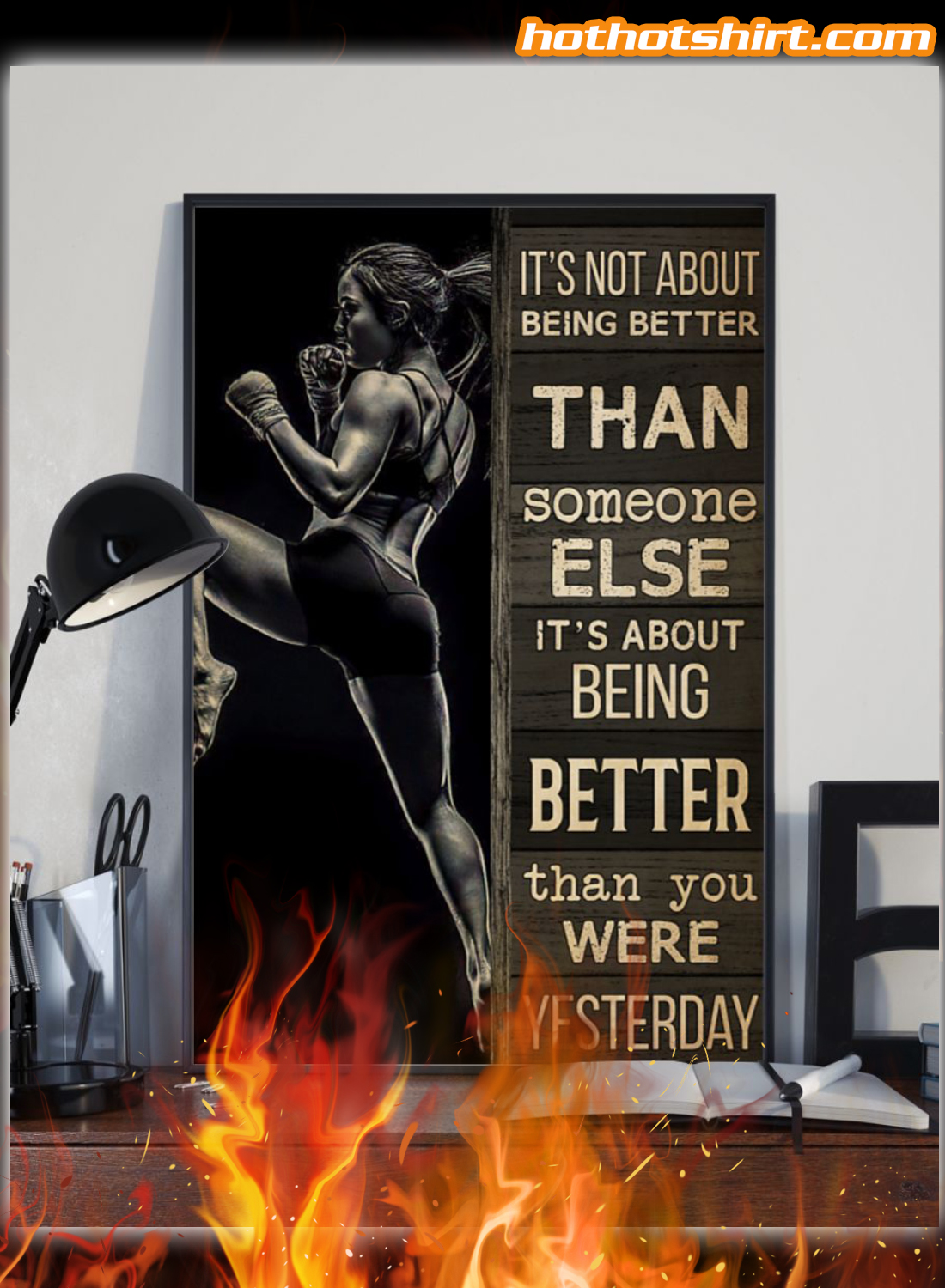 Muay Thai Girl It's Not About Being Better Than Someone Else Poster