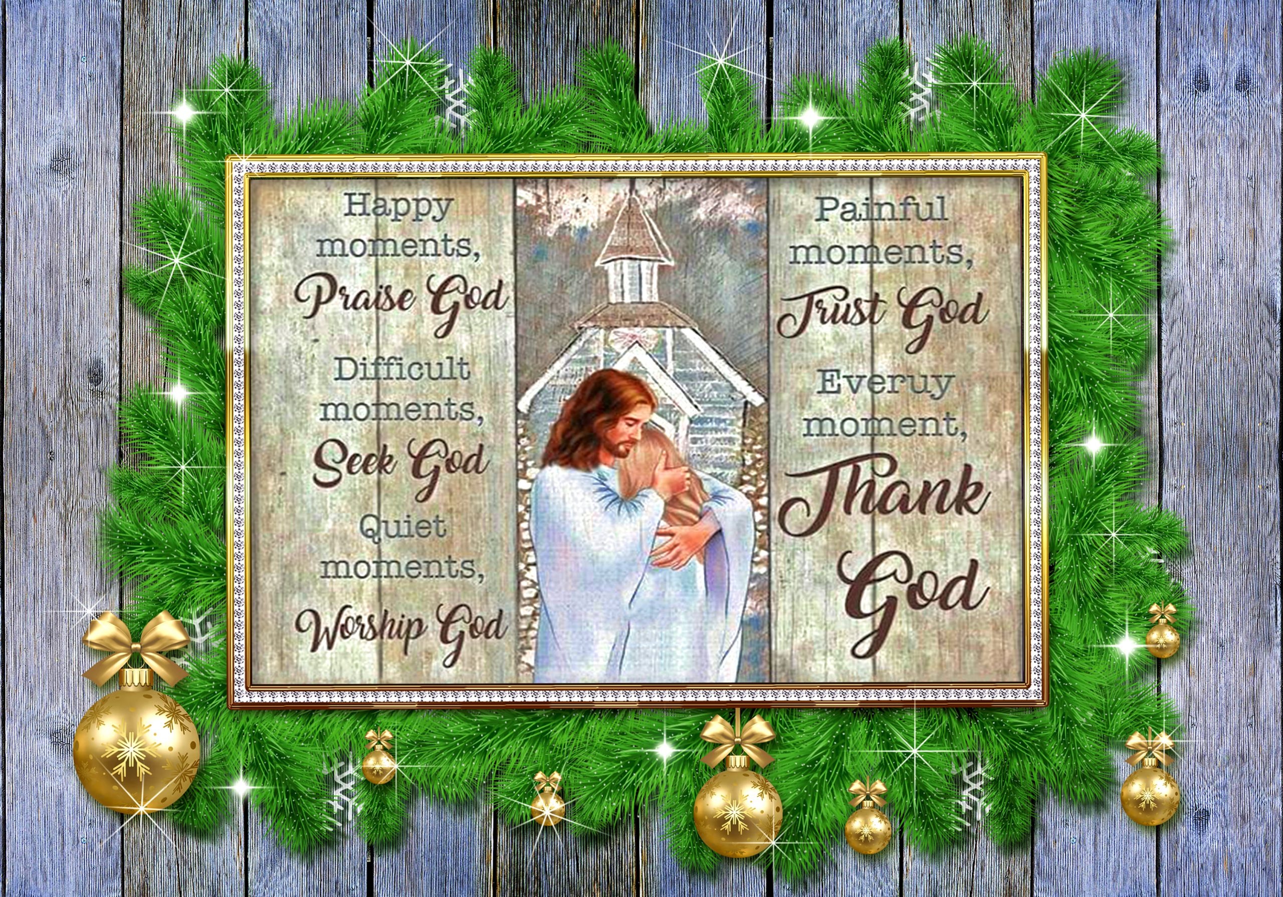 Personalized Custom Name Every Moment Thank God Poster