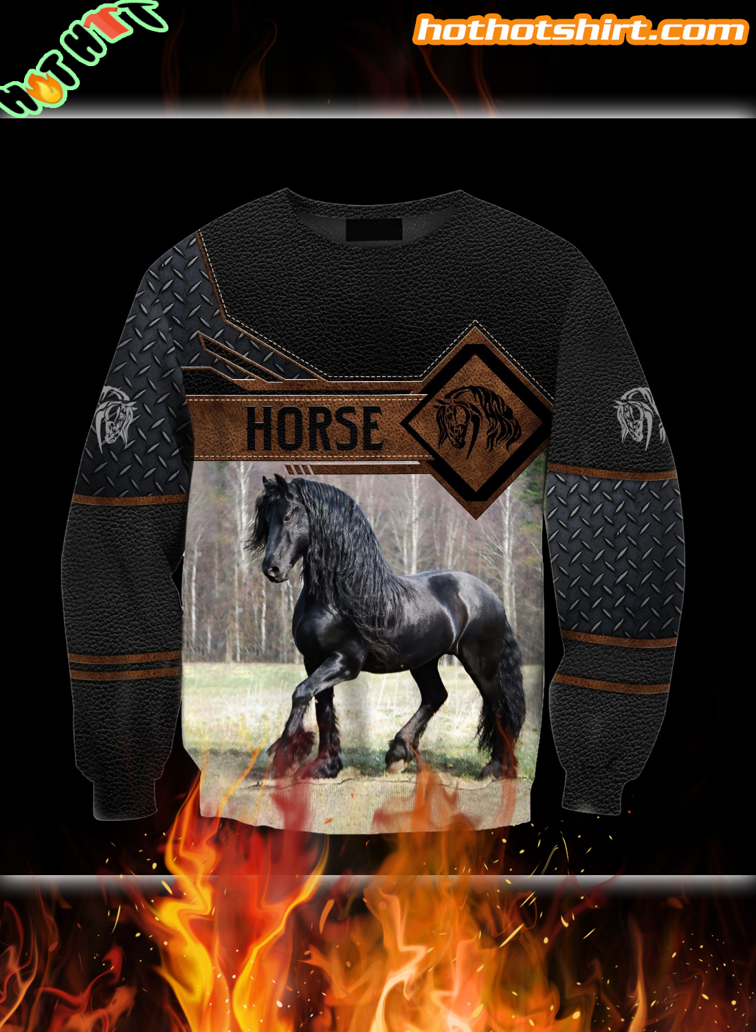Premium Horse 3D All Over Printed Hoodie