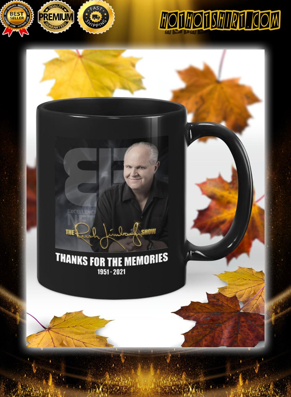 Rush Limbaugh thanks for the memories mug 1