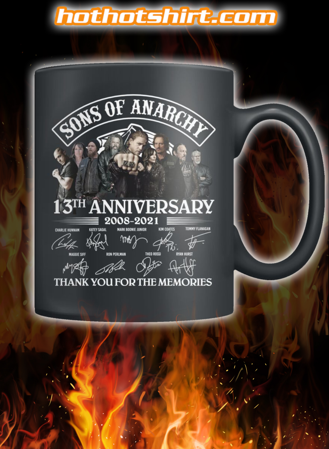 Sons of anarchy 13th anniversary 2008 2021 thank you for the memories mug