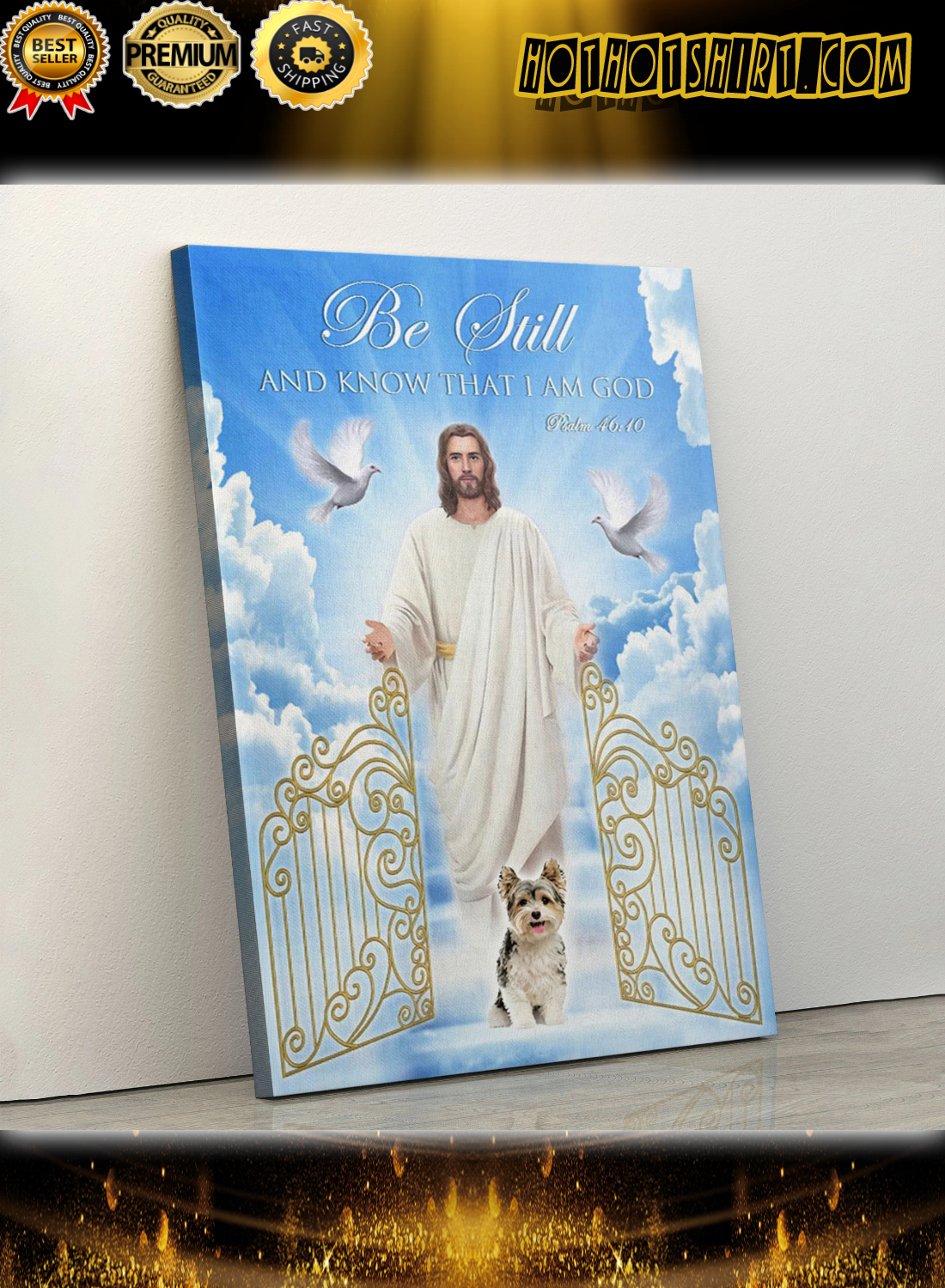 Yorkshire Terrier Be still and know that i am god poster 2