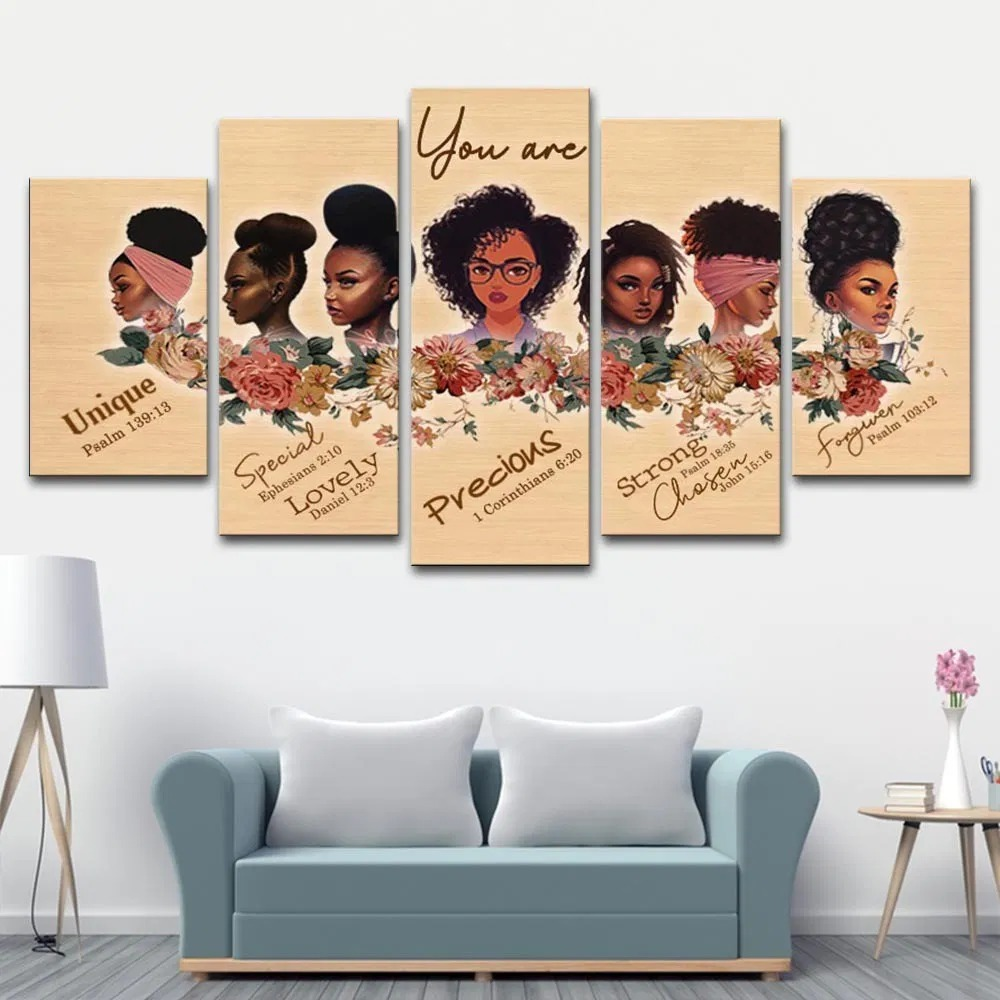 You Are Amazing Woman 5 Piece Canvas Wall Art