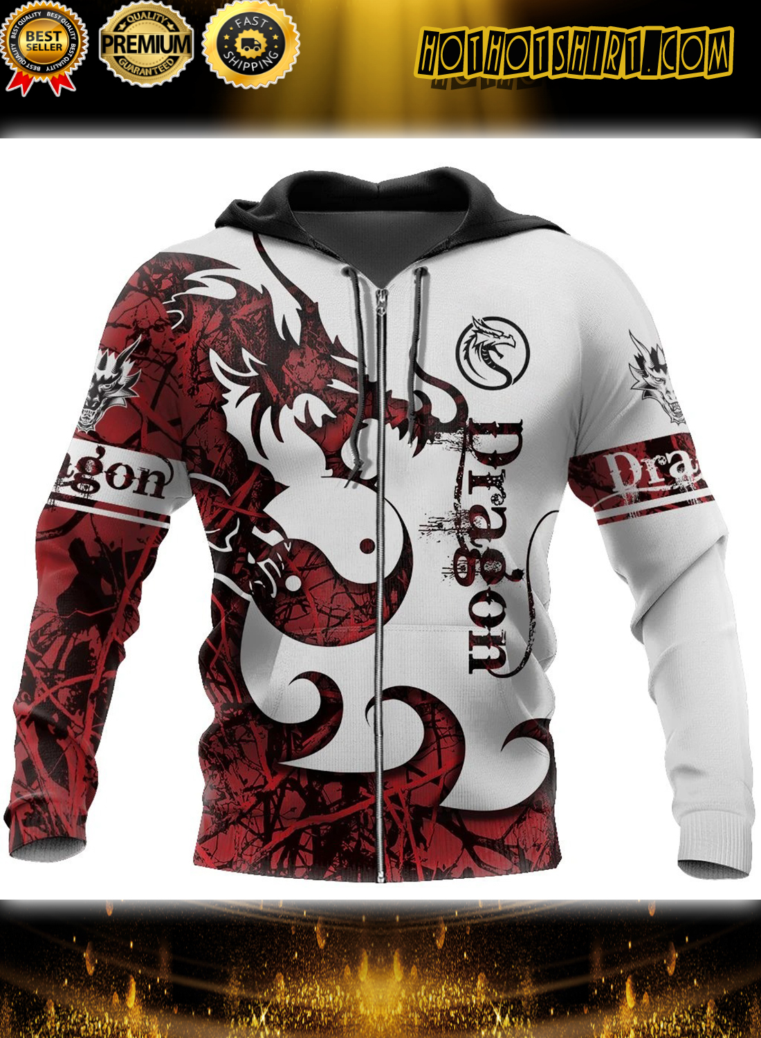 3D Tattoo and Dungeon Dragon Hoodie T Shirt 1