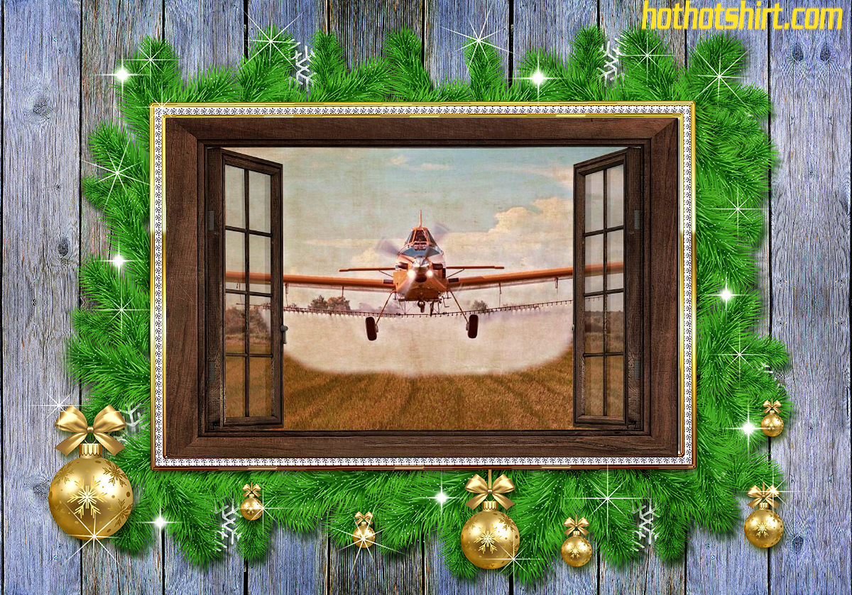 Agricultural Aircraft Window View Horizontal Poster