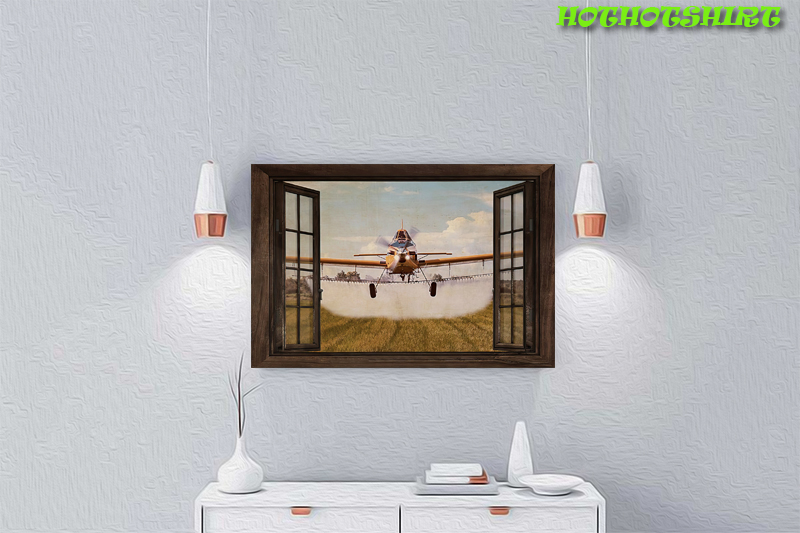 Agricultural Aircraft Window View Poster