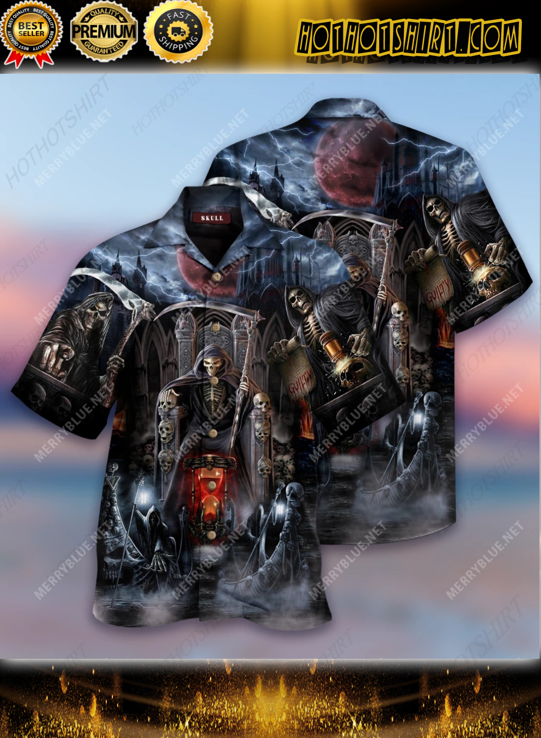 And Death Will Have His Day Short Sleeve Shirt