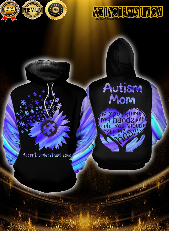 Autism mom daisy flower accept understand love 3D Shirts