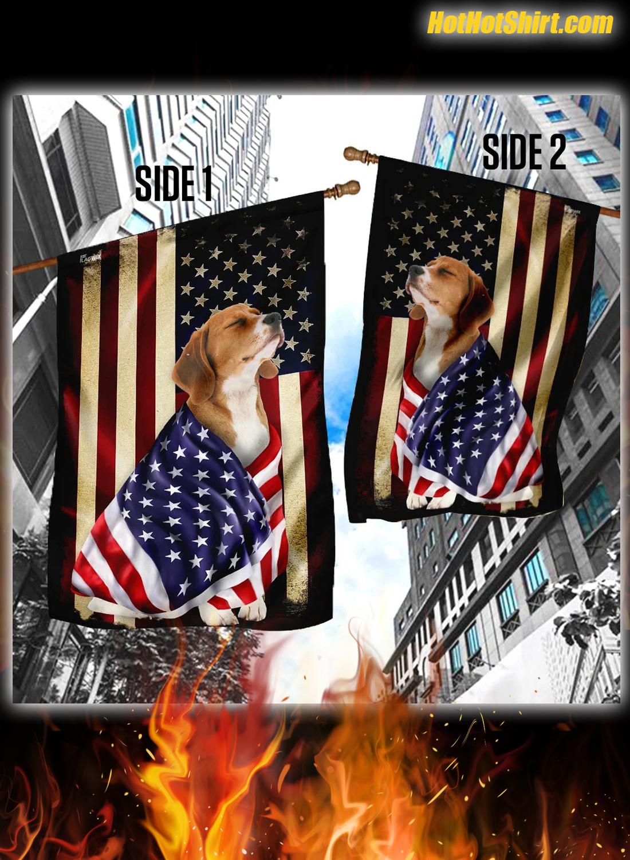 Beagle American Patriot Flag