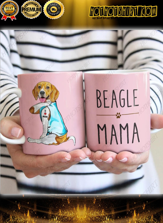 Beagle Dog I love mom Mug