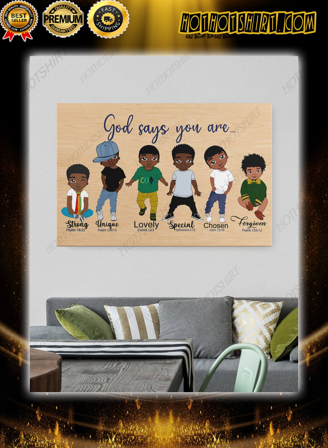 Black kids god say you are bible poster 1