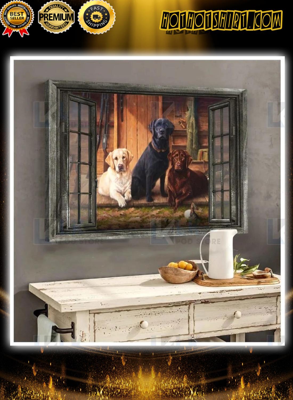 Break time Labrador retriever window poster and canvas