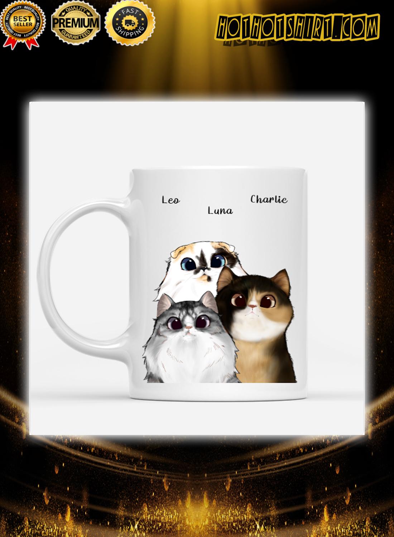 Cats are my favorite people custom name mug 2