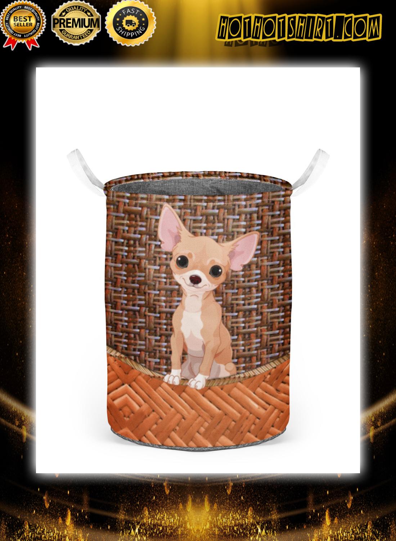 Chihuahua laundry basket 1