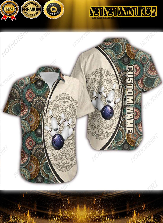 Custom Name Bowling Mandala Hawaiian Shirt