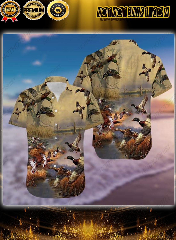 Duck Hunting Hawaiian Aloha Shirt