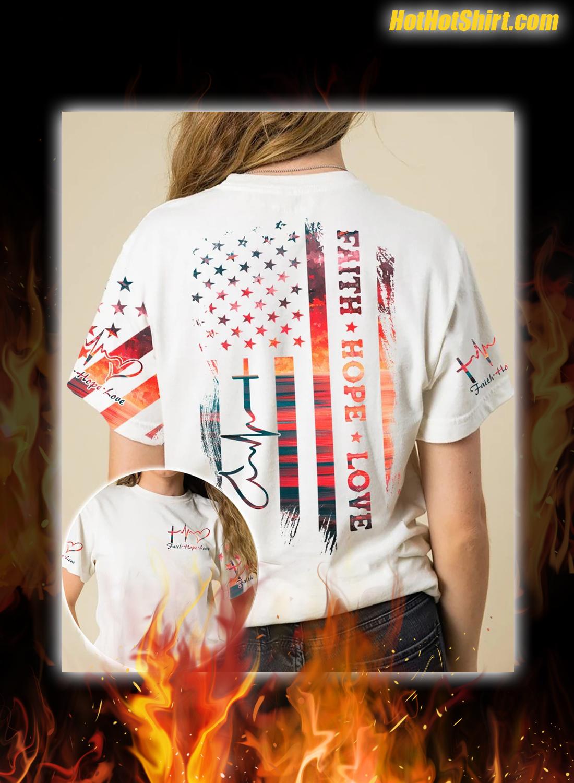 Faith Hope Love Sunset Beach Aop 3D Shirt and Hoodie