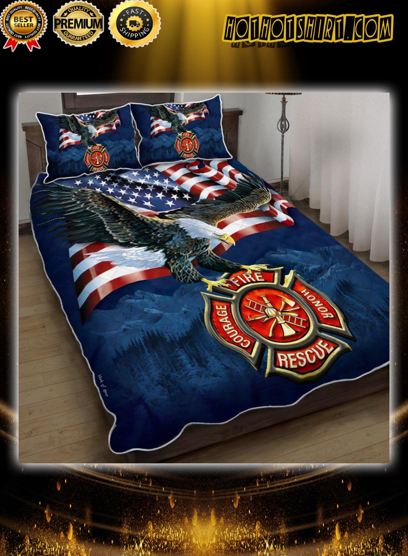 Firefighter american eagle bedding set