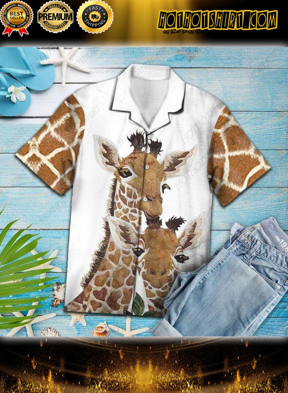 Giraffe Family Unisex Hawaiian Shirt