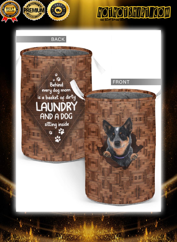 Heeler behind every dog mom laundry basket